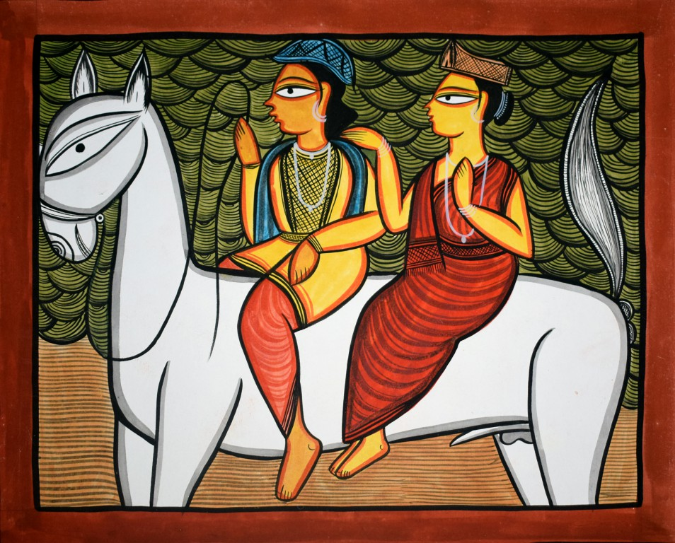 bengal style-02 Size-15.5''x18.5.5'' water colour on paper bhadur chitrakar Rs. 8000