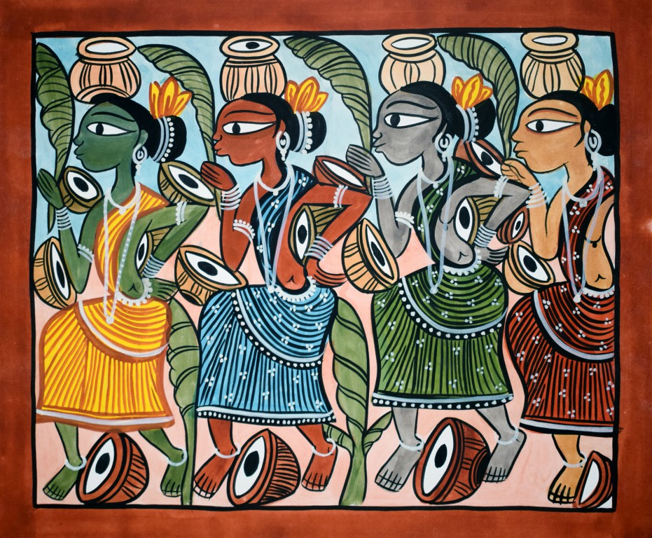 bengal style-06 Size-15.5''x18.5.5'' water colour on paper bhadur chitrakar Rs. 8000