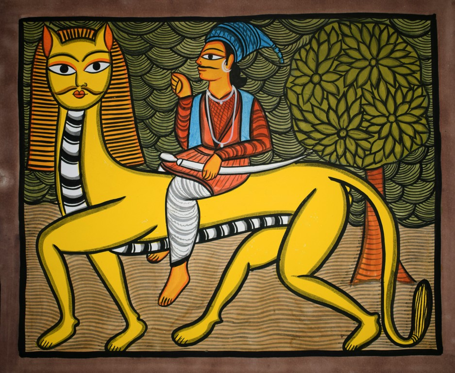 bengal style-11 Size-15.5''x18.5.5'' water colour on paper bhadur chitrakar Rs. 8000