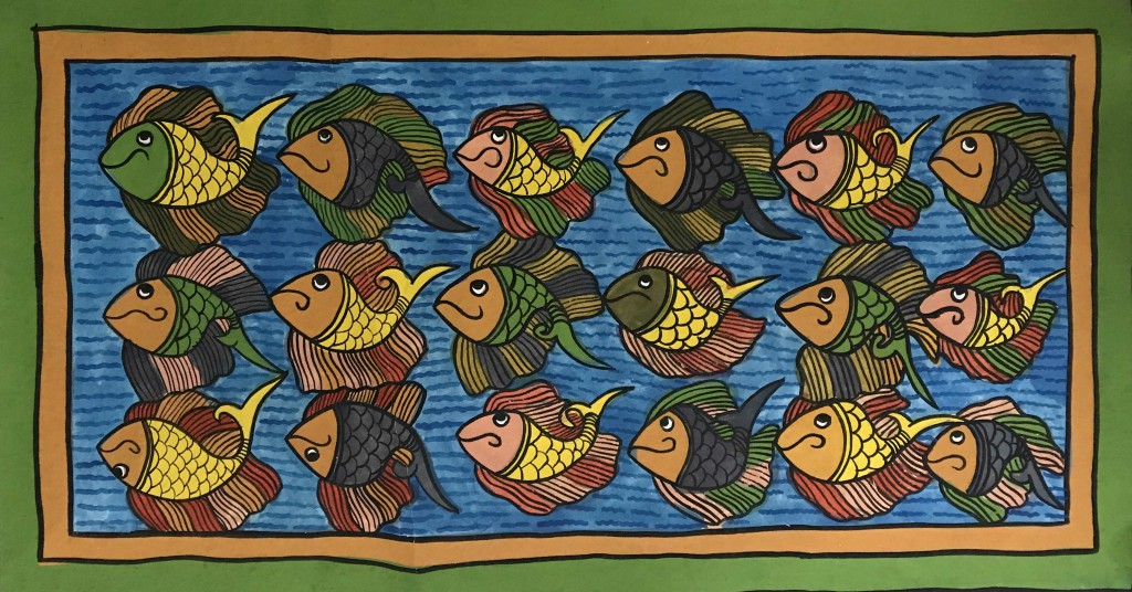bengal style-12 Size-15''x27'' water colour on paper bhadur chitrakar Rs. 8000