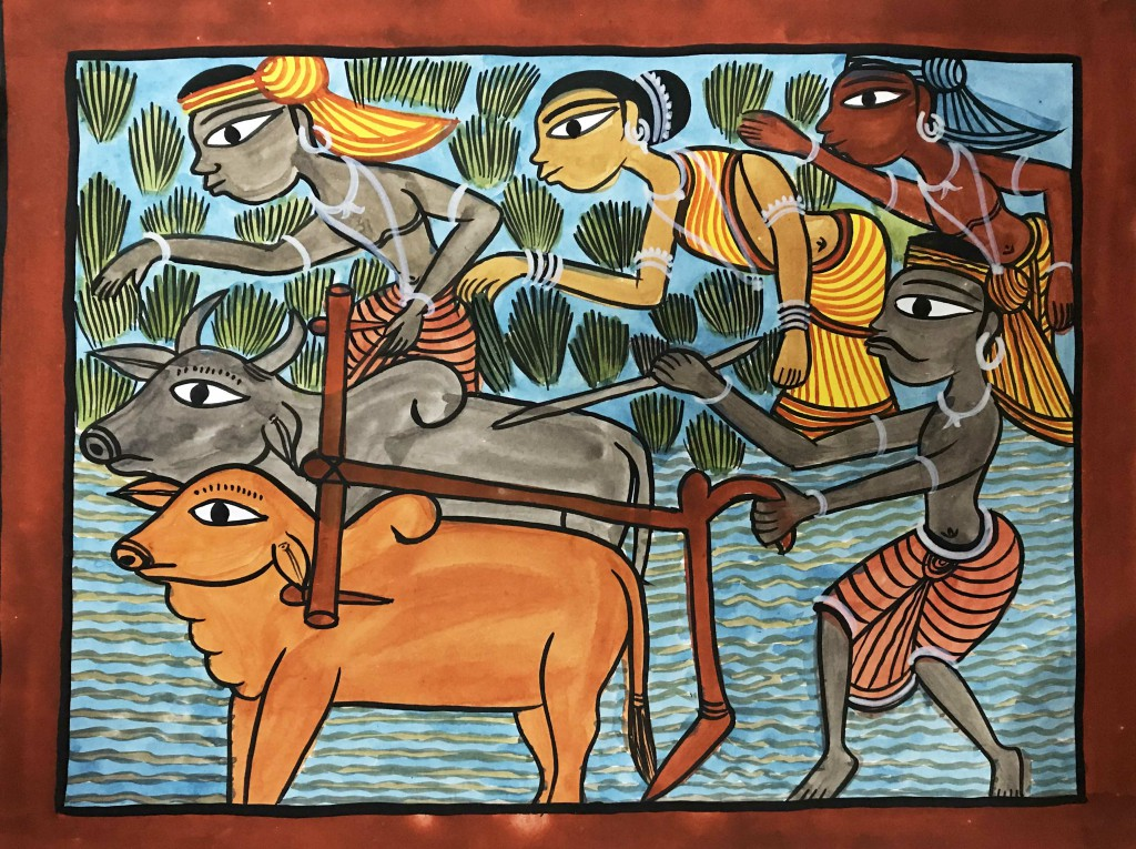 bengal style-14 Size-15.5''x18.5.5'' water colour on paper bhadur chitrakar Rs. 8000