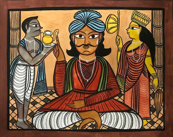 bengal style-15 Size-15.5''x18.5.5'' water colour on paper bhadur chitrakar Rs. 8000
