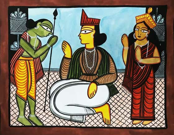 bengal style-16 Size-15.5''x18.5.5'' water colour on paper bhadur chitrakar Rs. 8000