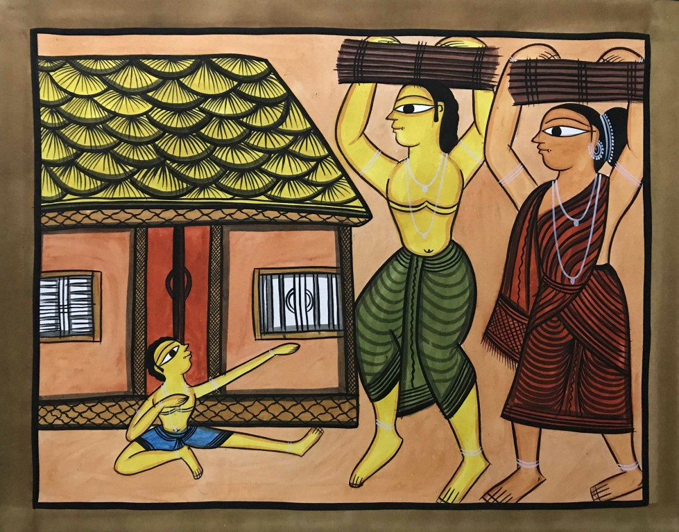 bengal style-17 Size-15.5''x18.5.5'' water colour on paper bhadur chitrakar Rs. 8000