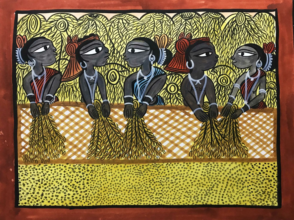bengal style-18 Size-15.5''x18.5.5'' water colour on paper bhadur chitrakar Rs. 8000