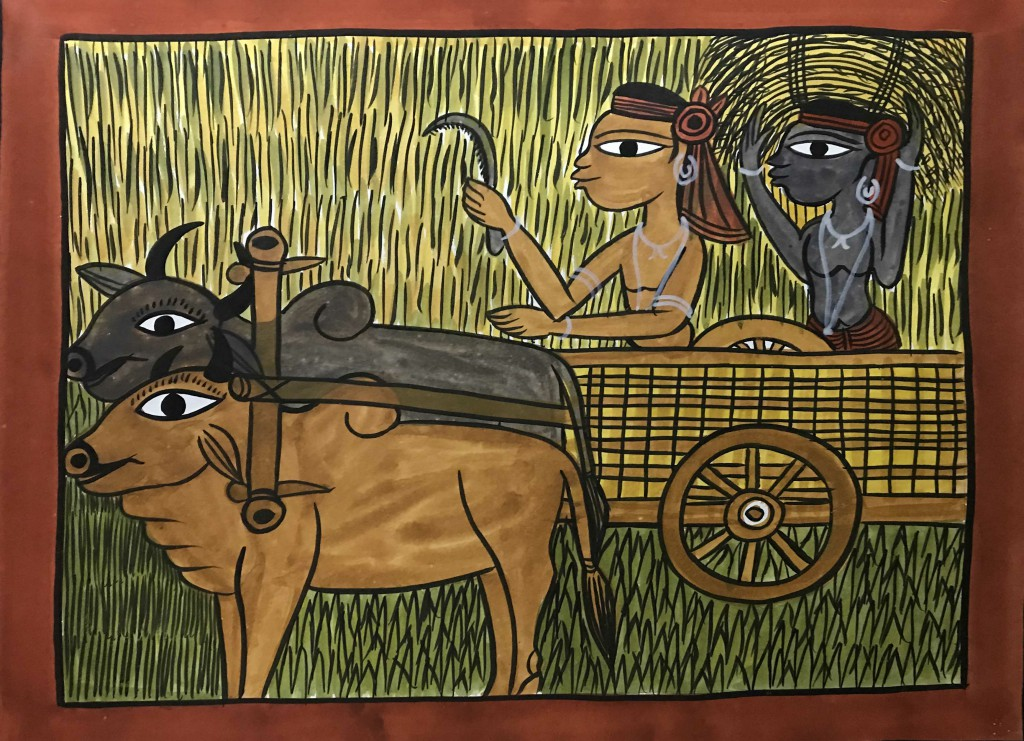 bengal style-21 Size-15.5''x18.5.5'' water colour on paper bhadur chitrakar Rs. 8000