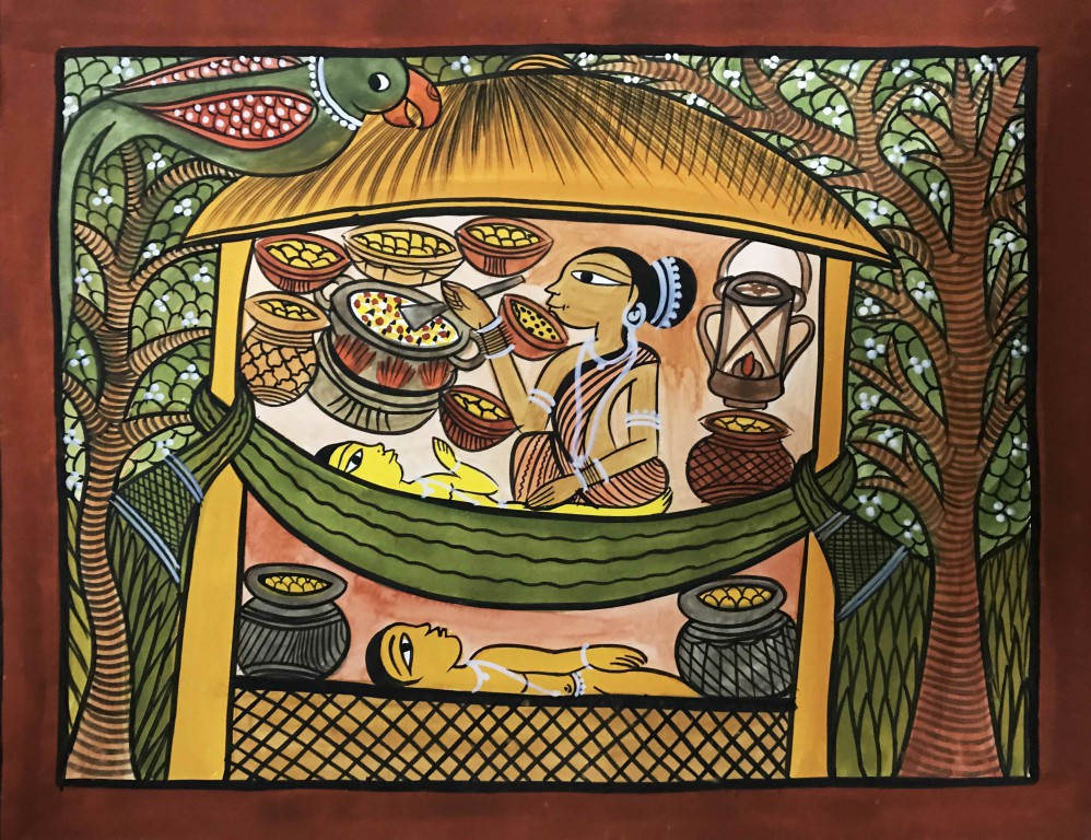 bengal style-24 Size-15.5''x18.5.5'' water colour on paper bhadur chitrakar Rs. 8000