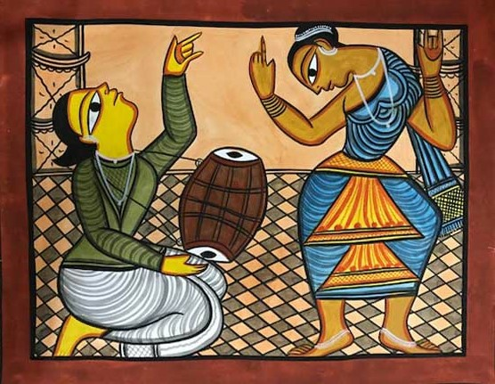 bengal style-25 Size-15.5''x18.5.5'' water colour on paper bhadur chitrakar Rs. 8000