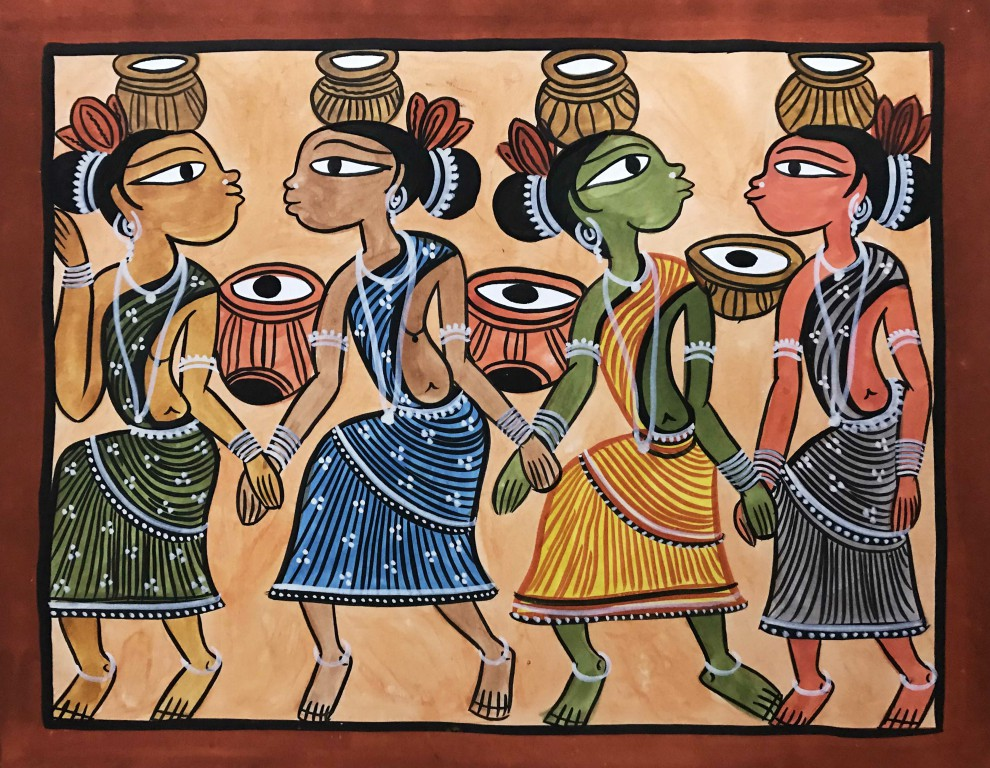 bengal style-26 Size-15.5''x18.5.5'' water colour on paper bhadur chitrakar Rs. 8000