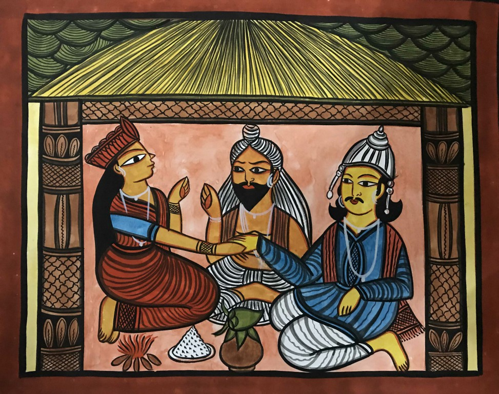 bengal style-27 Size-15.5''x18.5.5'' water colour on paper bhadur chitrakar Rs. 8000
