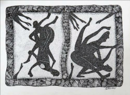 GOND226 sunil-shyam-pen-on-paper-size11x15inches-~1