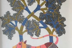 Gond-145 Acrylic on canvas size-30x36_price-rs.22000