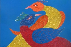 Gond-167 -shiv-prasad-malviya---size-22x30-inches- Acrylic on paper price-22000