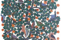 Gond-175 Artist- Dhaniya Singh Shyam Medium- Acrylic on canvas Size-52.5''x34''
