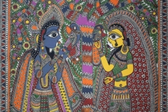 Madhubani 80 Artist- krishna jha medium- Acrylic on canvas Size-60''x44'' price-65000